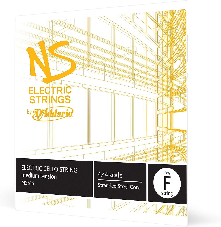 D'Addario NS Electric Cello Single Low 4 security Scale F Max 43% OFF String Medi