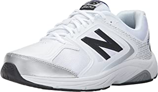 New Balance Men's 847V3 Walking Shoe, White/Grey, 9 2A US