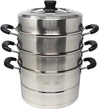 CONCORD 3 Tier Premium Stainless Steel Steamer Set (28 CM)
