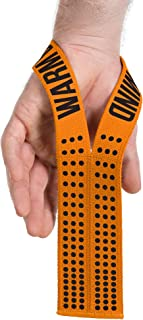 Pair of WARM BODY COLD MIND Lifting Wrist Straps for Olympic Weightlifting, Powerlifting, Functional Strength Training - Heavy-Duty Cotton Wrist Wraps