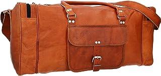 Gusti Weekender Damen Leder - Harvey Reisetasche Ledertasche 25L Bordtasche Sporttasche Handgepäck Echtleder Damen Herren Unisex