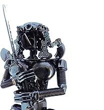 "col-p Aliens Super Predator Figure 7"" Hybrid Scrap Welded Metal Professional Handmade Sculpture Made of Screws,Bolts,Nuts Metal Art Movie"