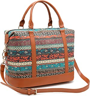 CAMTOP Women Ladies Weekender Travel Bag Canvas Overnight Carry-on Duffel Tote Luggage (Bohemia-1)
