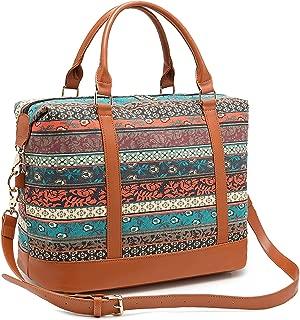 CAMTOP Women Ladies Weekender Travel Bag Canvas Overnight Carry-on Duffel Tote Luggage (Bohemia-1)