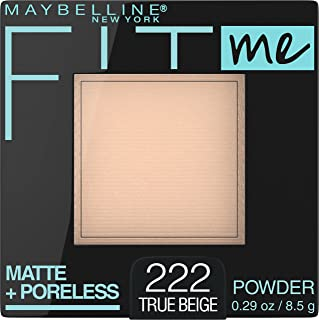 Maybelline Fit Me Matte & Poreless Pressed Powder - True Beige 222,0.29 Ounce