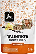 Caffeinated Energy Bites - Vanilla Chai (Pack of 3) - Infused with Tea - Gluten Free - Vegan - Energy Snack - Protein Snack - Protein Bar - Tea Squares