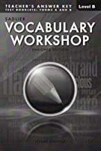 VOCABULARY WORKSHOP ENRICHED EDITION@2013 ANSWER KEY TO TEST BOOKLET: FORM A&B LEVEL B (GRADE 7)