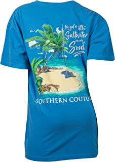 SC Comfort I've Got A Little Saltwater in My Soul Classic Fit Adult T-Shirt - Royal Caribe