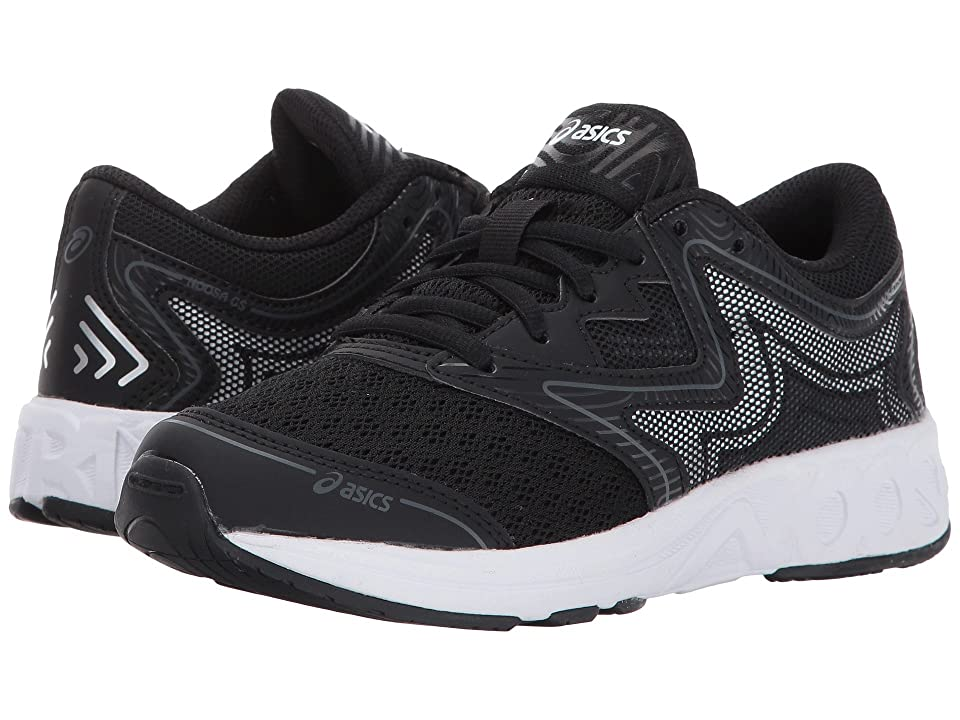 ASICS Kids Noosa GS (Little Kid/Big Kid) (Black/Carbon/Mid Grey) Boys Shoes