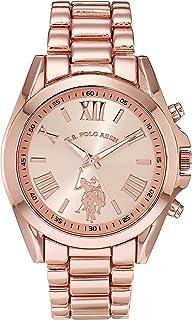 U.S. Polo Assn. Women's Quartz Watch with Alloy Strap, Gold, 16 (Model: USC40435AZ)