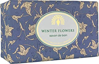 The English Soap Company, Vintage Wrapped Luxury Moisturising Shea Butter Soap, Winter Flowers, 200g