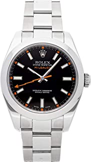 Rolex Milgauss Mechanical (Automatic) Black Dial Mens Watch 116400 (Certified Pre-Owned)
