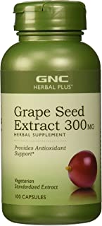 GNC Herbal Plus Grape Seed Extract for Antioxidant Support, 300 mg - 100 Count
