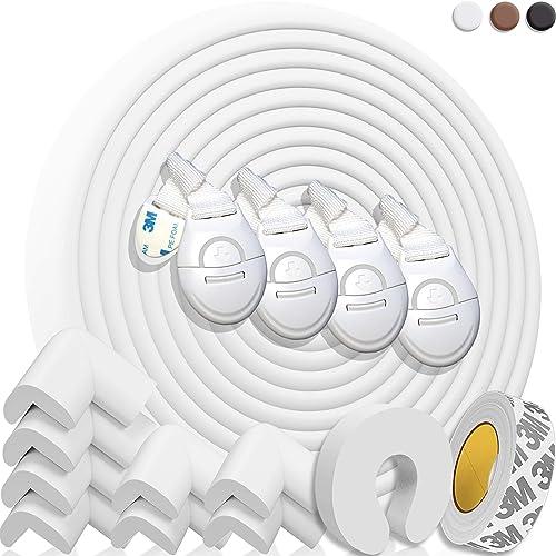 HAPPY CHLEA ® Protection d'Angles et Rebords pour Bébés. Couverture Totale de 6,4 M avec Protège-Angles et 8 Protège ...