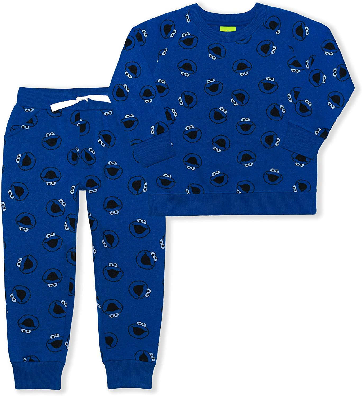Sesame Street Boy's 2-Piece Sweatshirt and Jogger Set