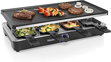 Tristar RA-2724 Raclette – Omkeerbare grillplaat – 8 personen, Zwart