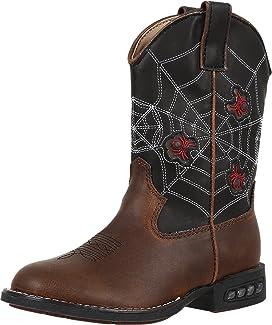 Spider Lighted Cowboy Boots (Toddler/Little Kid)