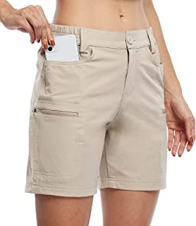 """Willit Women's Hiking Cargo Shorts Stretch Golf Active Shorts Outdoor Summer Shorts with Pockets Water Resistant 5"""""""