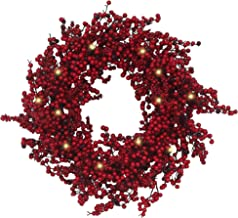 Best large red wreath Reviews