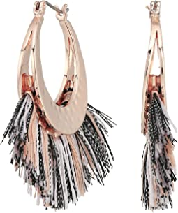 Rebecca Minkoff - Palm Tassel Hoops Earrings