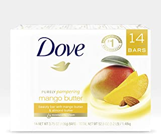 Dove Bar Purely Pampering Beauty Bar Bath Soap To Moisturize Dry Skin With Mango Butter More Moisturizing Than Bar Soap, (...