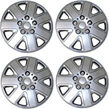 Tuningpros WC3-16-1026-S - Pack of 4 Hubcaps - 16-Inches Style 1026 Snap-On (Pop-On) Type Metallic Silver Wheel Covers Hub-caps