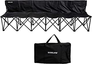 Franklin Sports Sideline Team Bench - 6 Person - Collapsible Sports Bench with Carry Bag - Easy Assembly - Pop Up - Additi...