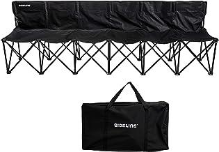 مقعد فريق جانبي فرانكلين سبورت - 6 أشخاص- مقعد رياضي قابل للطي مع حقيبة حمل - سهل التجميع - منبثق - أعمدة دعم فولاذية إضاف...