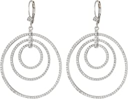 Orbital Hoop On Leverback Earrings