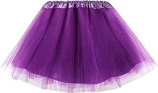 Women's Adult 3, 4, 5 Layered Tulle Tutu Mini Skirt