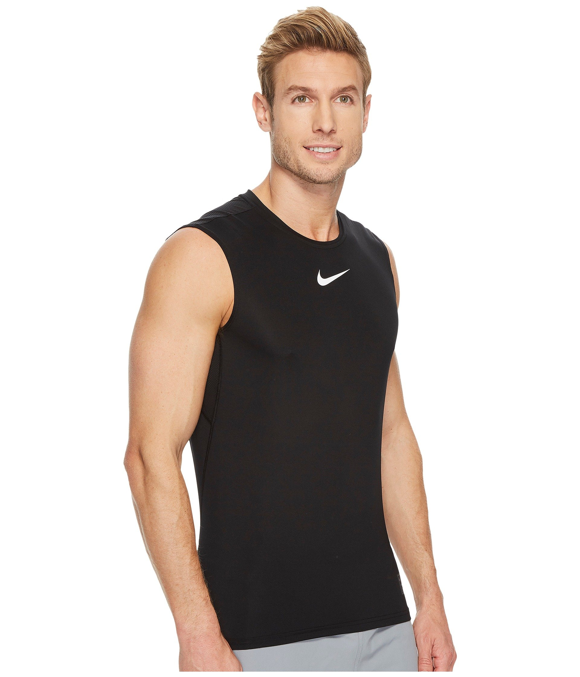 Sleeveless Black white Fitted Top Nike Training white Pro HYETWqX