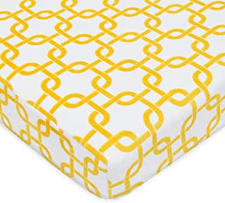 """American Baby Company Heavenly Soft Chenille Fitted Pack N Play Playard Sheet, Golden Yellow Gotcha, 27"""" x 39"""""""