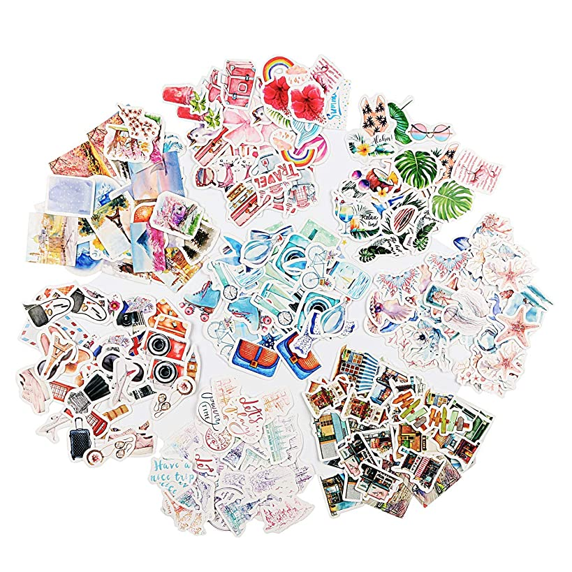 Molshine 320pcs Various Special Shaped Stickers Decals-One Person's Travel Series for Personalize,Laptops,Skateboards,Luggage,Cars,Bumpers,Bikes,Bicycles,Books,Sealing Sticker-8 Different Styles
