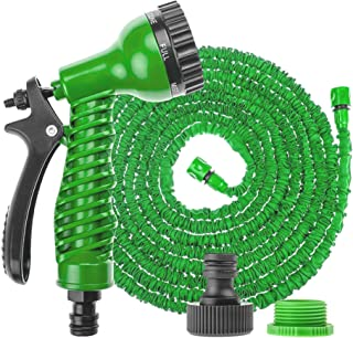 PLASTIFIC Garden Hose Pipe Expandable Garden Hose Anti-Leakage - Flexible Expanding Hose with 8 Function Spray Nozzle (50 ...