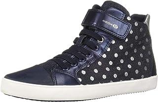 Geox Kids' Gisli Girl 12 Sp Hightop Velcro Sneaker