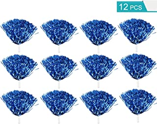 Faxco 12 PCS Cheerleading Pom Poms, Hand Pompoms Flowers, Cheerleader Pompoms for Sports Cheering, Team Spirit Cheering, Party Dance