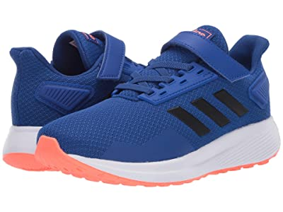 adidas Kids Duramo 9 (Little Kid) (Team Royal Blue/Black/Signal Coral) Boys Shoes