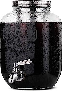 BTaT- قهوه ساز سردخانه ای ، تلگراف نوشیدنی شیشه ای 1 گالن میسون ، قهوه ساز گالن سرد ، قهوه ساز سرد چای ، قهوه قهوه سرد آب سرد ، تلگراف نوشابه ، تلگراف شیشه ای ، سیستم دم سرد
