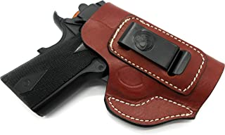 Right Hand IWB AIWB Inside Pants Clip-On Concealment Holster in Brown Leather for 3