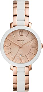 Fossil Women's Quartz Wrist Watch analog Display and Stainless Steel Strap, ES4588