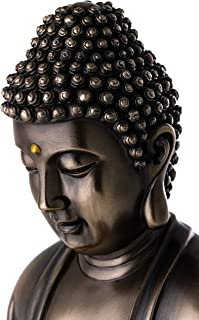 Top Collection Meditating Shakyamuni Buddha Statue - Enlightened East Asian New Age Sculpture in Premium Cold Cast Bronze - 10.5-Inch Collectible Supreme Buddha Figurine