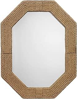 Large Nautical Jute Mirror For Bathroom | Nautical Roped Wall Mirror Home Decor | Nagina International
