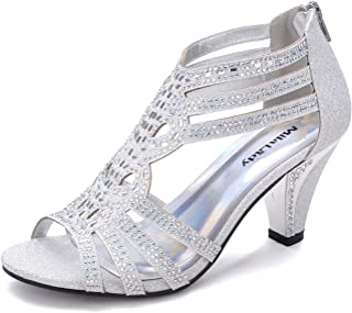 Mila Lady Women's Lexie Crystal Dress Heeled Sandals (Kimi 25)