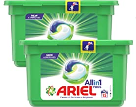Ariel All in 1 PODS, Washing Liquid Capsules Original Scent, 2 x 15 Count