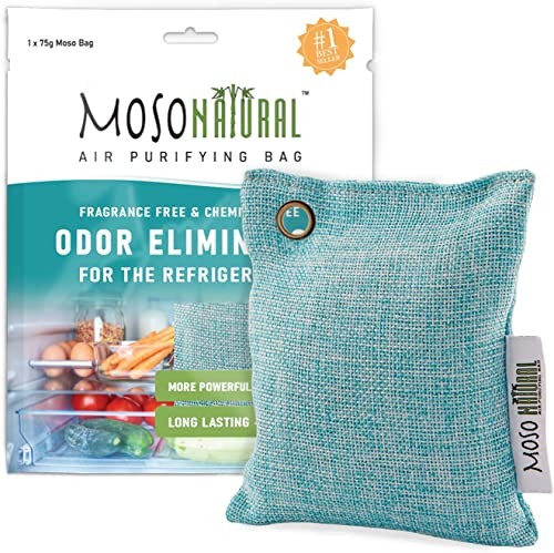 MOSO NATURAL: The Original Air Purifying Bag for The Refrigerator. for Fridge and Freezer. an Unscented, Chemical-Fre...