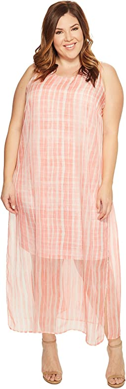 Plus Size Sleeveless Graceful Phrases Chiffon Overlay Dress
