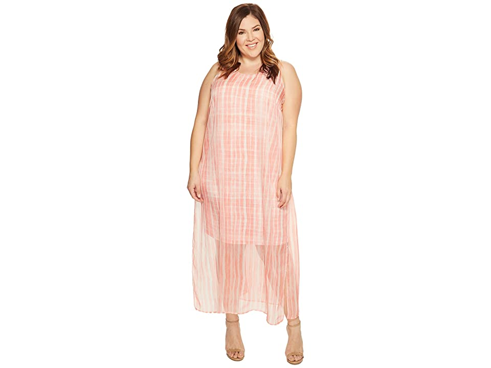 Vince Camuto Specialty Size Plus Size Sleeveless Graceful Phrases Chiffon Overlay Dress (Rossetto) Women