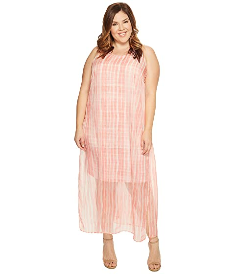 10265712c48a Vince Camuto Specialty Size Plus Size Sleeveless Graceful Phrases Chiffon  Overlay Dress