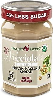 Rigoni di Asiago Nocciolata Bianca Organic Hazelnut Spread, 9.52 oz, Cocoa Free