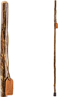 Trekking Pole Hiking Stick for Men and Women Handcrafted of Lightweight Wood and made in the USA, Ironwood, 55 Inches
